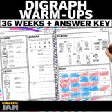 Short Vowel Digraph Warm Ups   Daily Phonics Digraphs Prac
