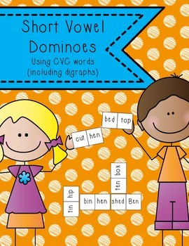 Short Vowel Dominoes using CVC words