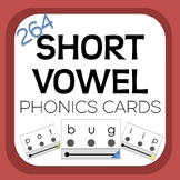Short Vowel Phonics Cards with Visual Blending Support