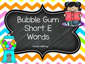 SHORT VOWEL E Bubble Gum Words Fluency Powerpoint Presentation
