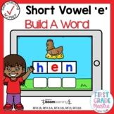 Digital Short Vowel E CVC Build A Word Boom Cards℠