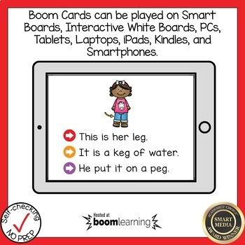 Boom Cards Short E CVC Read the Word