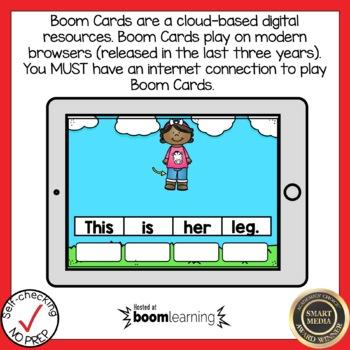 Boom Cards Short E CVC Sentence Scrambles