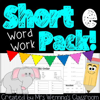 Short Vowel Ee! A Week of Lesson Plans, Activities, and Word Work!