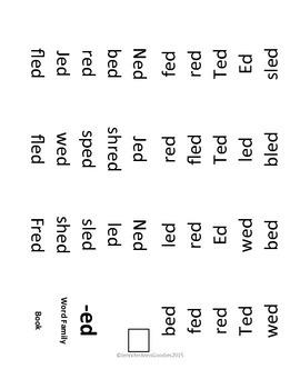Word Family Mini-Books: Short E Set