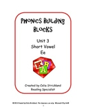 Short Vowel E Phonics Building Blocks Program