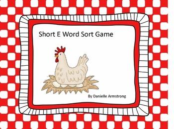 Short Vowel E Word Sort