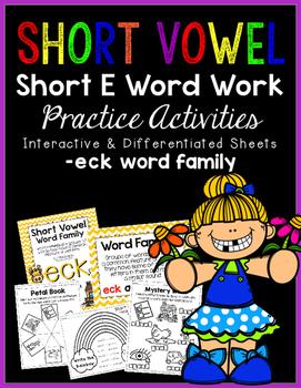 Short Vowel E Word Work {-eck Word Family}