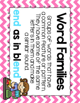 Short Vowel E Word Work {-end Word Family}