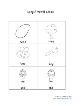 Short Vowel E or Long Vowel E Picture Sort