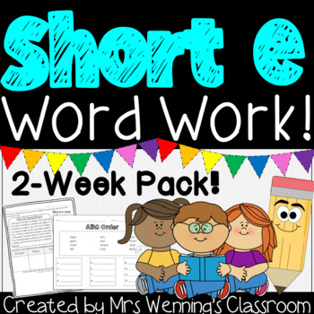 Short Vowel Ee Pack! 2 Weeks of  Lesson Plans, Activities & Word Work!