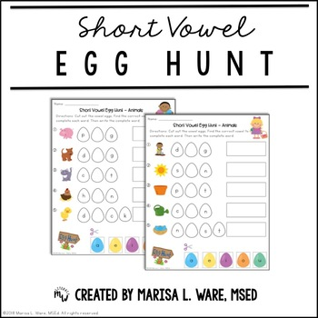 Short Vowel Egg Hunt