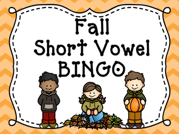 Short Vowel Fall Bingo
