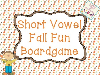 Short Vowel Fall Board Game