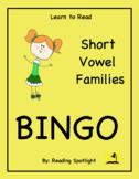 Reading Game: Short Vowel Families Bingo (LTR)