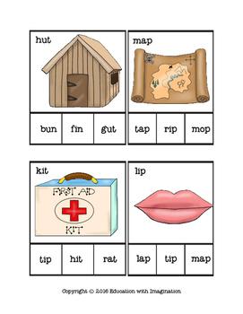 MATCHING TASKS Short Vowel Family