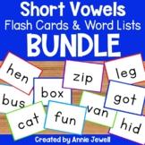 Short Vowel Flash Cards and Word Lists BUNDLE