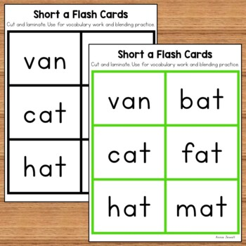 Short Vowel Flash Cards and Word Lists BUNDLE