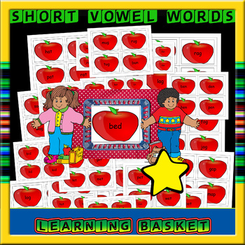 Short Vowel Flashcards -26 pages (96 cards)