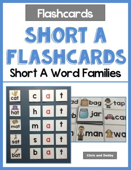 Short Vowel Flashcards - Short A CVC Word Families - Phonics Flashcards