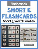 Short Vowel Flashcards - Short E CVC Word Families - Phonics Flashcards