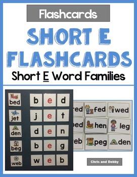 Short Vowel Flashcards - Short E CVC Word Families - Phoni