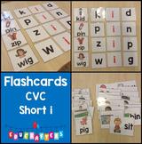 Short Vowel Flashcards - Short I CVC Word Families - Phonics Flashcards