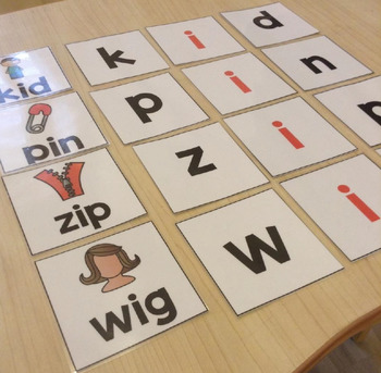 Short Vowel Flashcards - Short I CVC Word Families - Phonics Flashcards