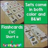 Short Vowel Flashcards - Short O CVC Word Families - Phonics Flashcards
