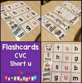 Short Vowel Flashcards - Short U CVC Word Families - Phonics Flashcards