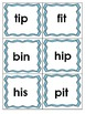 Short Vowel Flashcards~Color Coded for Each Vowel
