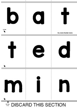 Short Vowel Flip Book