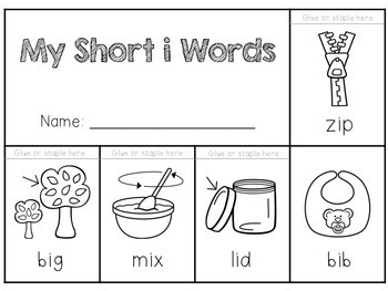 Short Vowel Flip Books