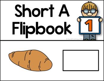 Short Vowel Flipbooks SHORT A; 5 CVC Flipbooks Included!