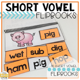 Short Vowel Flipbooks SHORT VOWELS (Mixed); 10 CVC Flipboo