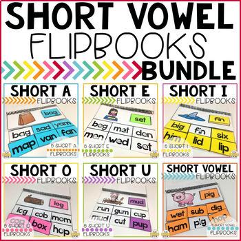 Short Vowel Flipbooks THE BUNDLE; 35 CVC Flipbooks Included!