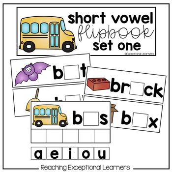 Short Vowel Flipbooks for Special Education