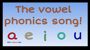 Short Vowel Flipchart for Promethean Board