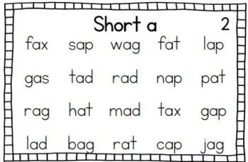 Short Vowel Fluency