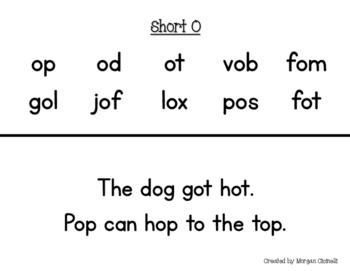 Short Vowel Fluency Assessments