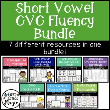 Short Vowel CVC Small Group Instruction and Intervention Bundle