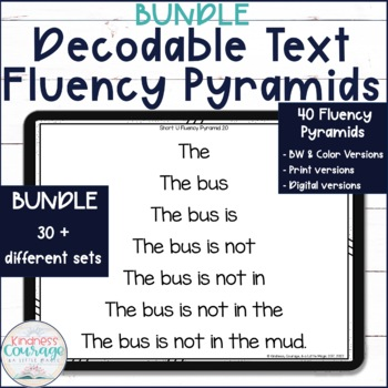 Short Vowel Fluency Pyramids GROWING BUNDLE