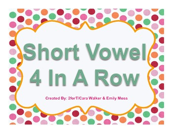 Short Vowel Four-in-a-Row Game Boards