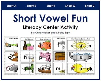 Short Vowel Fun: Literacy Center Activity Pack