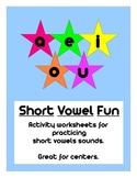 Short Vowel Fun Packet
