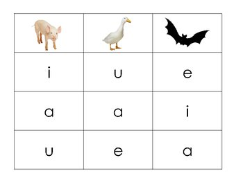 Short Vowel Game