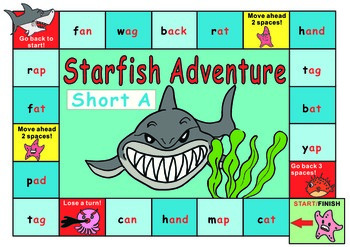 Short Vowel Game Boards