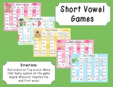 Short Vowel Game Boards - AEIOU