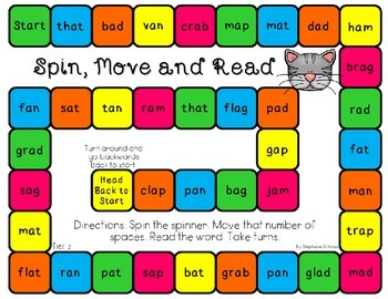 Short Vowel Game Boards (Differentiated)