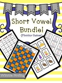 Short Vowel Game Bundle {Literacy Center Activities}